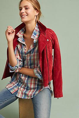 Slide View: 1: Flannel High-Low Buttondown
