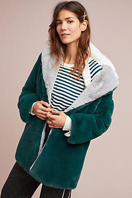 Slide View: 1: Enki Faux Fur Coat