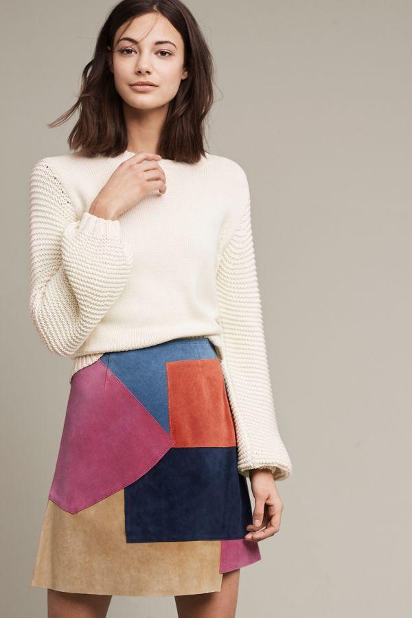MiH Kalle Suede Mini Skirt