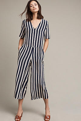 Hart Striped Silk Jumpsuit