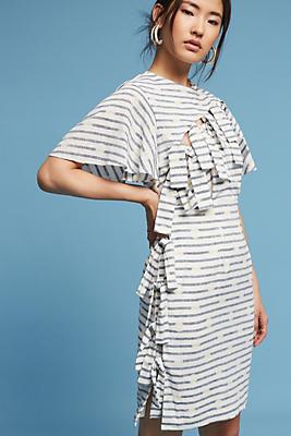Slide View: 1: Bows & Stripes Sheath Dress