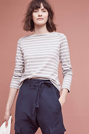 Striped Boatneck Pullover