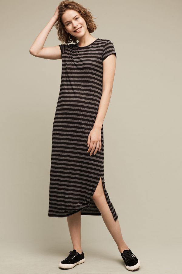 The Lady & The Sailor Hannah Striped Midi Dress