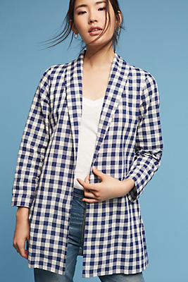 Slide View: 1: Cece Gingham Jacket