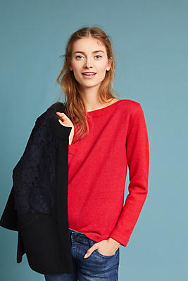 Slide View: 2: Clancy Boat Neck Pullover