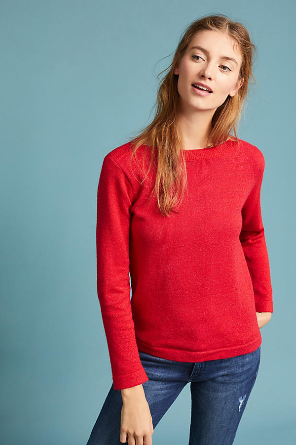 Slide View: 3: Clancy Boat Neck Pullover