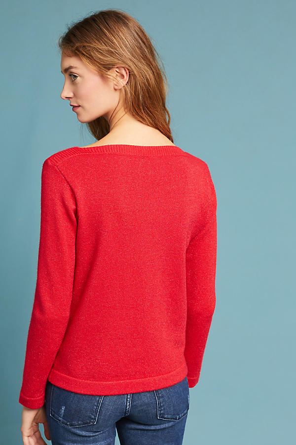 Slide View: 4: Clancy Boat Neck Pullover
