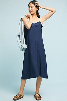 Slide View: 1: Satin Jacquard Slip Dress