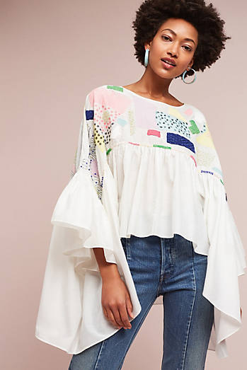 Havena Embroidered Swing Blouse