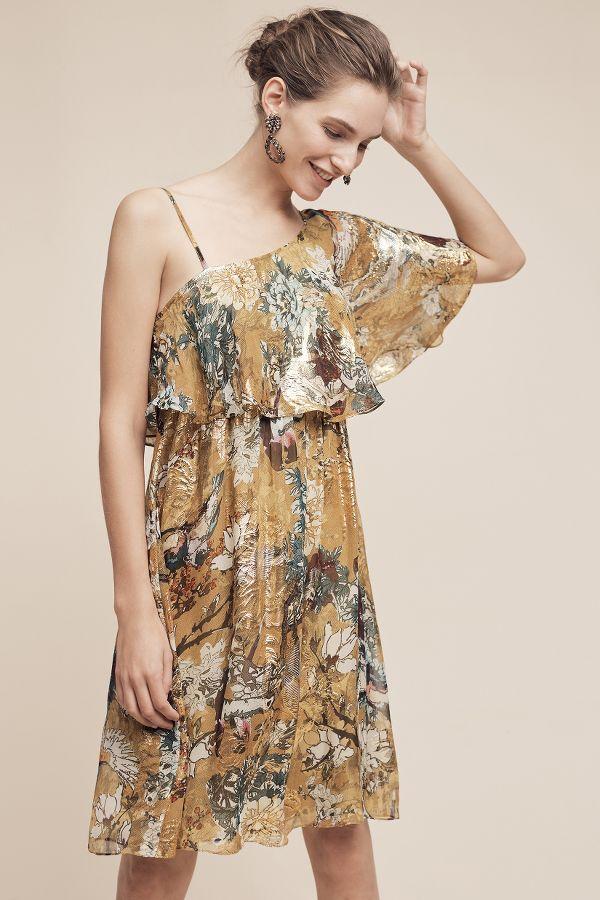 Hemant & Nandita Blooming Ruffled-Sleeve Dress