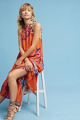Slide View: 1: Mae Silk Maxi Dress
