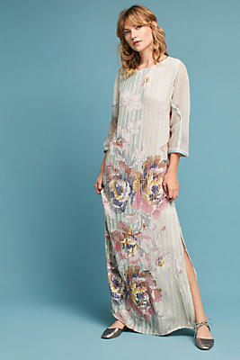 Slide View: 2: Embellished Floral Column Dress