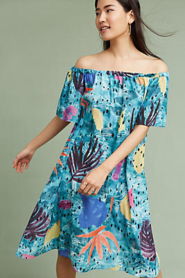 Slide View: 1: Pacific Off-The-Shoulder Dress