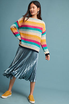 Slide View: 1: Janey Striped Pullover