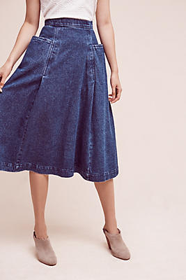 Slide View: 2: Orleans Denim Skirt