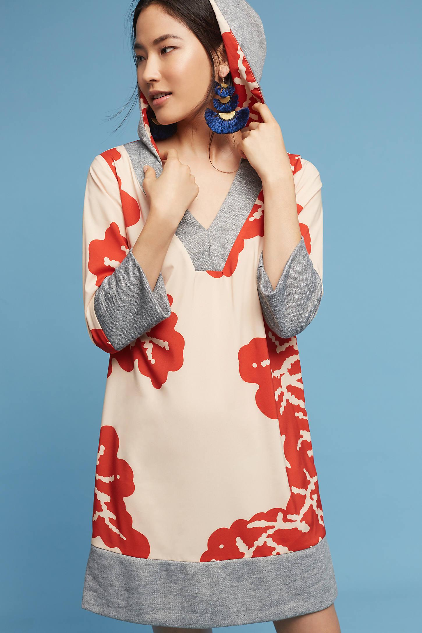 Palm-Printed Hoodie Pullover