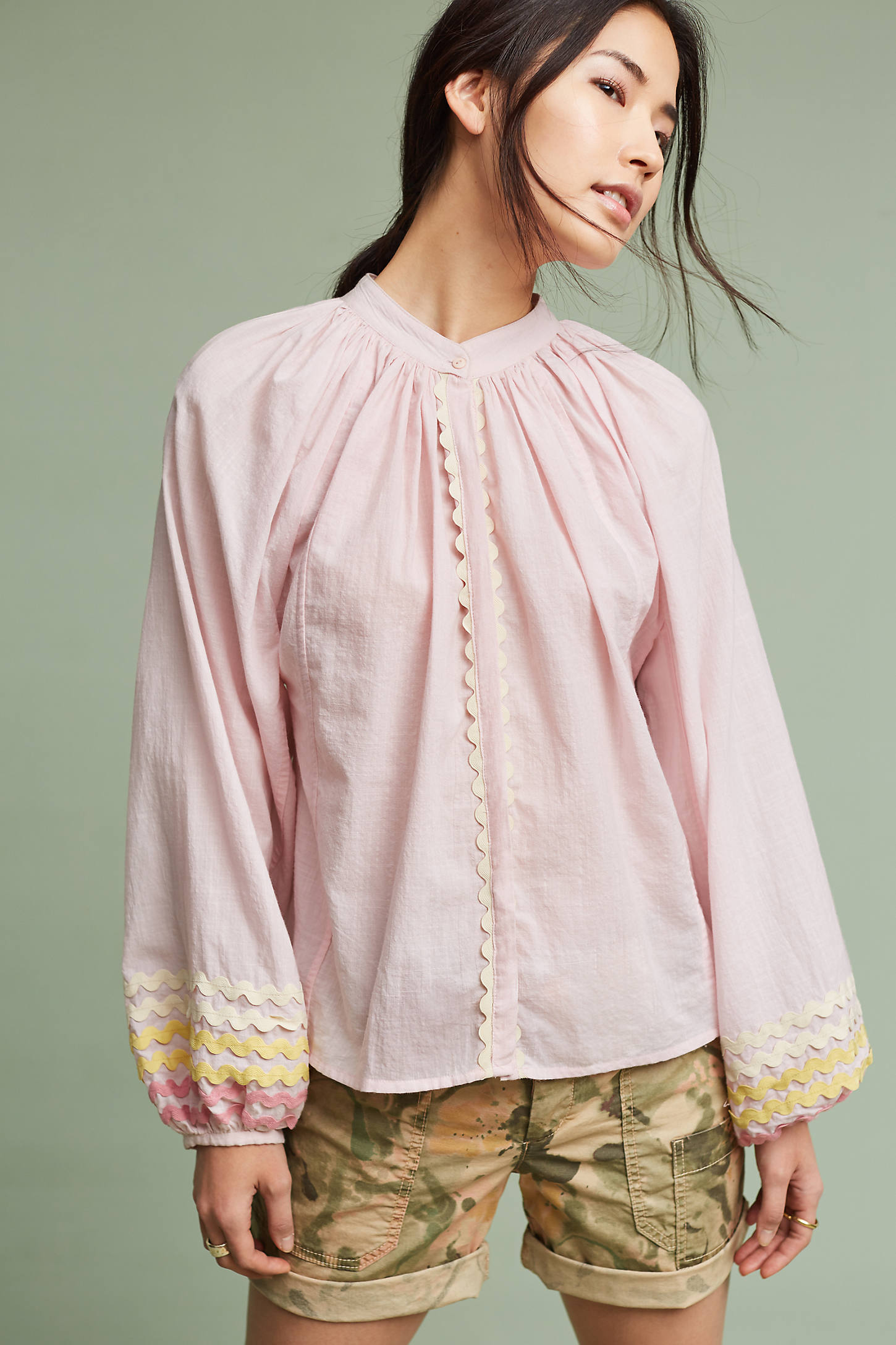One-Of-A-Kind Rick-Rack Peasant Blouse