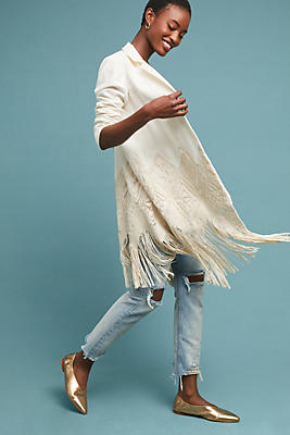 Slide View: 1: Sedona Fringed Blazer