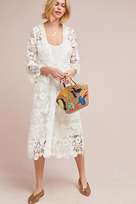 Slide View: 1: Odette Lace Kimono