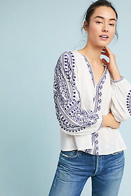 Slide View: 1: Newbury Eyelet Blouse