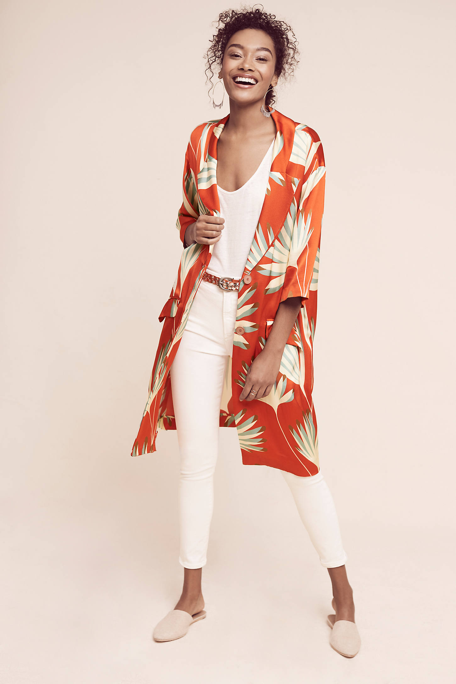 Palm-Printed Jacket