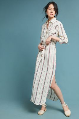 Antik Batik   Antik Batik Striped Shirtdress  -    SAND