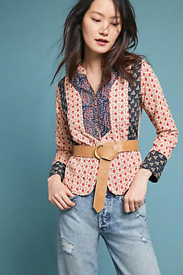 Slide View: 1: Antik Batik Mixed Print Jacket