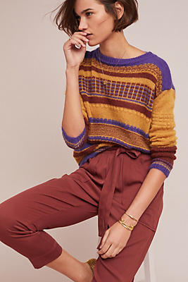 Slide View: 1: Palmer Striped Sweater
