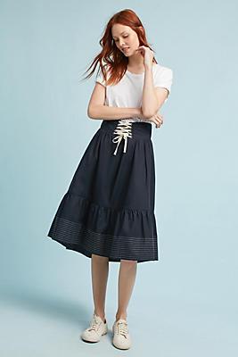 Slide View: 1: La Mer Lace-Up Skirt