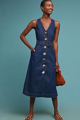 Slide View: 1: PAPER London Wallace Denim Dress