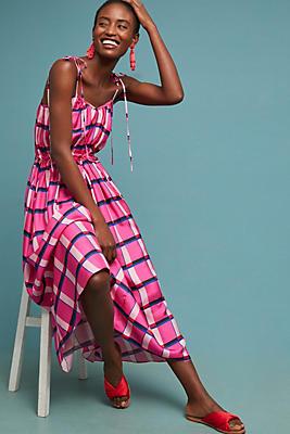 Slide View: 1: PAPER London Natalia Sleeveless Silk Dress