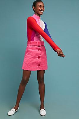 Slide View: 1: PAPER London Wallace Corduroy Mini Skirt