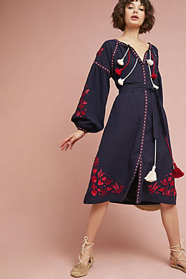 Slide View: 1: Madalyn Embroidered Shift Dress