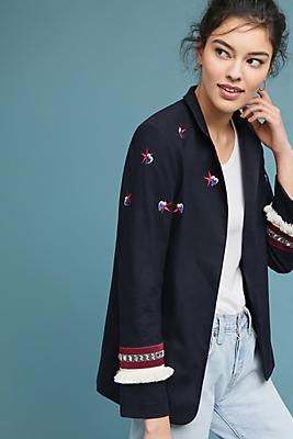 Slide View: 1: Mezze Embroidered Blazer