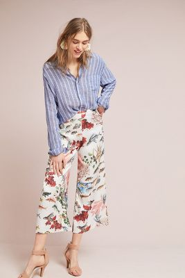Pat Bo Cropped Fish Pants by Pat Bo