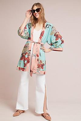 Slide View: 1: PatBO Fish Kimono Dress