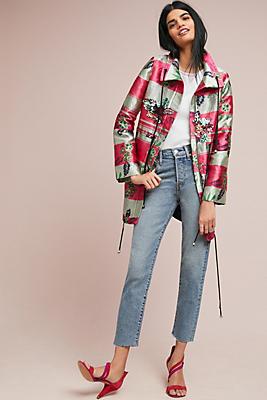 Slide View: 1: PatBO Jacquard Stripe Jacket