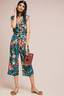 Slide View: 1: PatBO Cropped Floral Pants