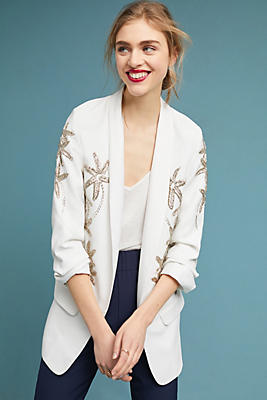 Slide View: 1: PatBO Beaded Starfish Blazer
