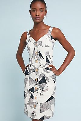 Slide View: 1: Graphite Denim Dress