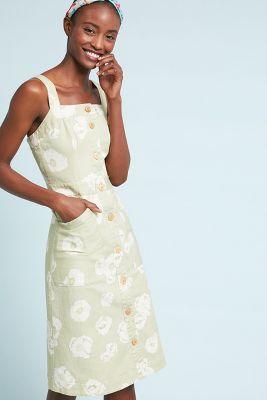 SISSA   Daisy Days Denim Dress  -    NEUTRAL MOTIF