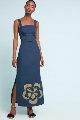 SISSA   Maui Maxi Dress  -    NAVY