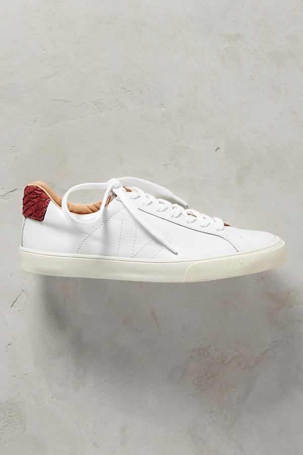 Slide View: 2: Veja Marsala Leather Sneakers