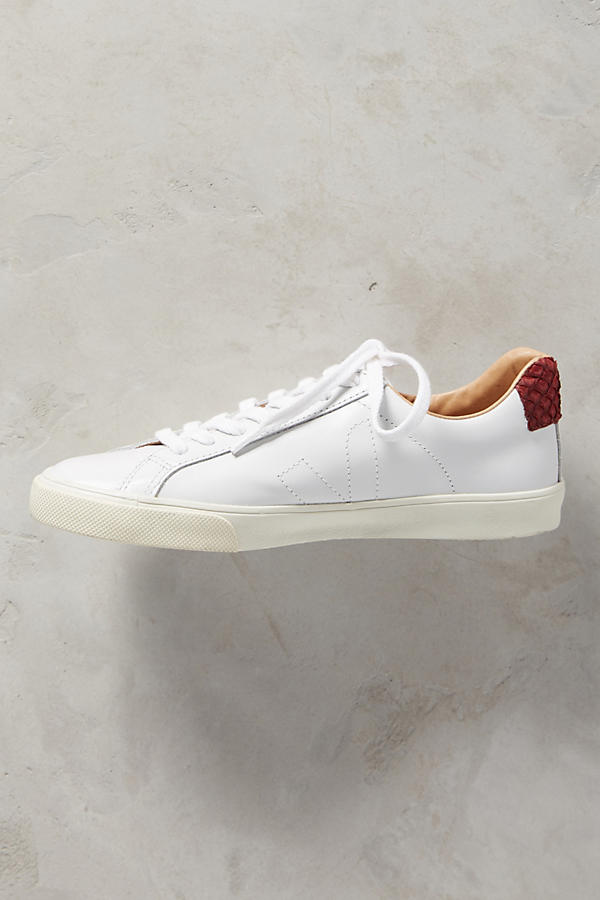 Slide View: 3: Veja Marsala Leather Sneakers