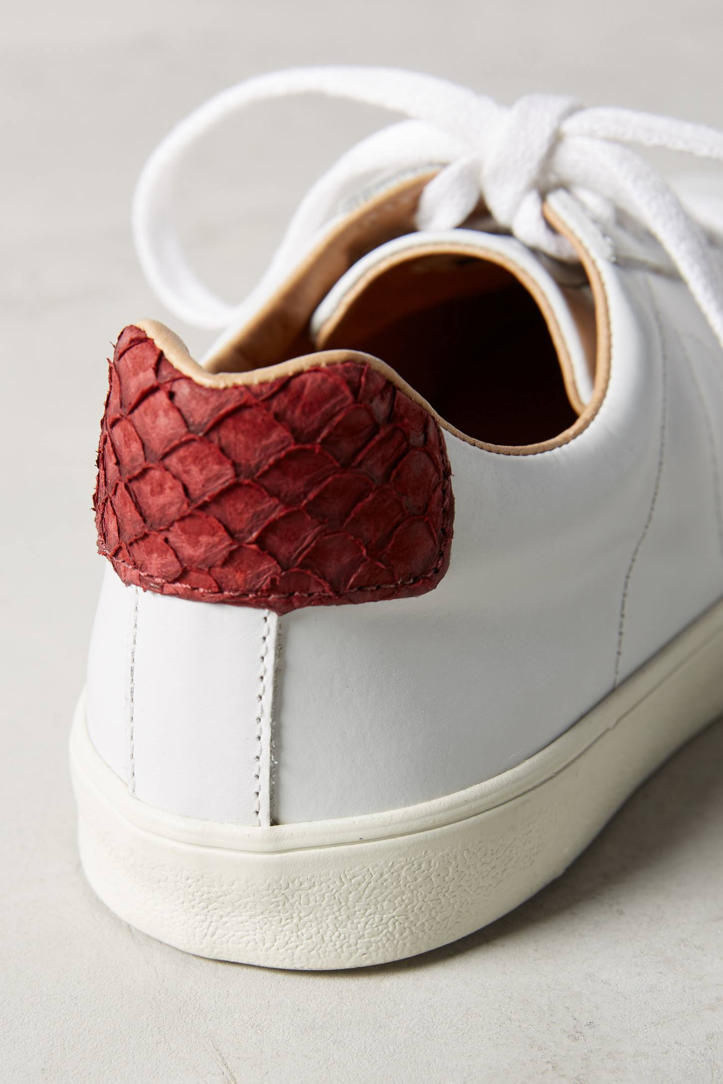 Slide View: 4: Veja Marsala Leather Sneakers