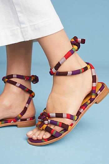 Charlotte Stone Petra Stripe Sandals