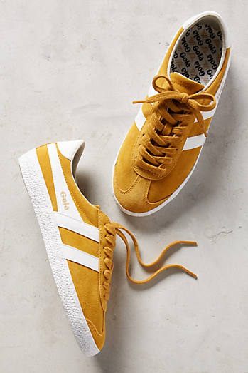 Gola Yellow Suede Sneakers