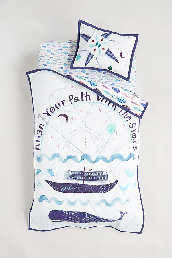 Slide View: 5: Nautical Navigation Toddler Quilt