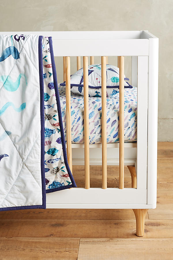 Slide View: 1: Nautical Navigation Toddler Quilt