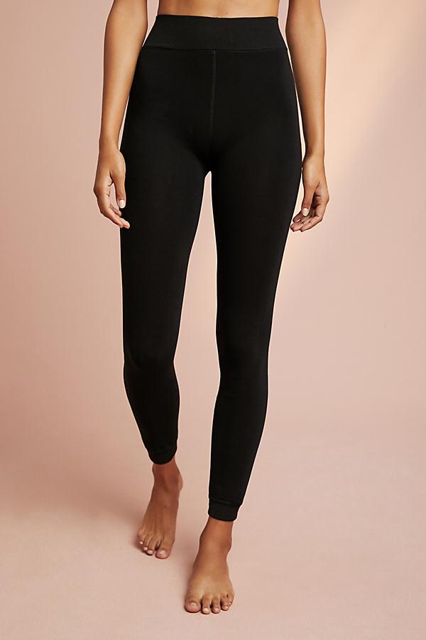 Fleece-Lined Leggings - Black, Size M/l